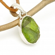 Peridot Pendant Facetted Sterlingsilver 925 22x12mm