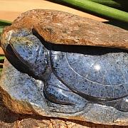 Turtle with matrix Dumortierite 130x60x100mm