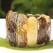 Bernstein Armband Einzelstück Naturbernstein 40-55mm Grosse Perlen 58Gramm
