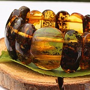 Amber Bracelet Single-Item with middle stone 22-30mm Beads