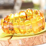 Bernsteinarmband Naturbernstein Cognac Transparent