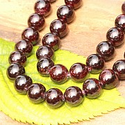 Garnet Loose Beads non-transparency about 12mm A Quality About 40cm