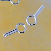 Crimp end cap 925 Silver 1.2 mm
