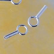 Endkappe für Schmuckdraht 0.48mm innen Mini Quetschverschluß oder Kleben 925 Silber