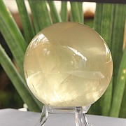 Calcite white  Sphere 62mm transparent