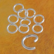 Jumpring ring open 6.7x1.3mm ring very strong silver 925 jewelry part