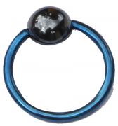 Titanium Klemmkugelring Dunkelblau Standard 1,6mm Piercingring