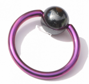 Ball Closure Ring Standard 1.6mm Piercing Ring pink