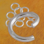 Jumpring open 10.0x1.6mm Ring very large, strong and heavy, 925 silver