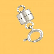 Magnetic clasp for charms with spring ring clasp silver 925
