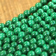 Malachite beads 10mm strand natural about 39cm