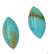 Turquoise Nature Cabochon 12*6 Navette Cut