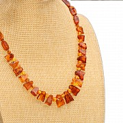 Amber cognac necklace collier 48cm