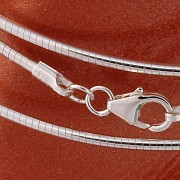 Silber Halsreifen Tonda Flexibel 42cm/1,2mm Silber 925