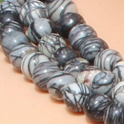Gemstone-Beads Picasso Jasper 8mm/39cm loose beads