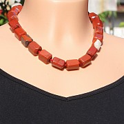 Red Jasper Chain Faceted Nugget Beads Lobster Clasp 43-45cm