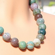 Achatkette Edelsteinkette Natur ca. 45cm/12mm Perlen