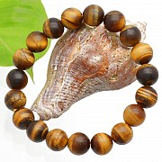 Tiger Eye Matt Bracelet BallS 10 mm