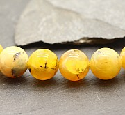 Opal beads yellow A sphere partially transparent Andenopal Opal beads 40cm / 8mm