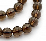 Smokey Quartz Round Beads 4mm
