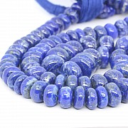 Lapislazuli Button Gemstone Beads 3*8 to 11*7mm 44cm