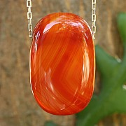 Carnelian Square Pendant 38*25mm