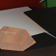 Obelisk rose quartz gemstone tip 43mm