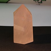 Obelisk rose quartz gemstone tip 50mm