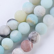 Amazonite chinese, Gemstone Beads 8mm matt
