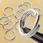 Splitring 9 mm Großer Schmuckzubehör Ring Silber 925