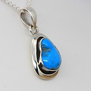 Turquoise Silver-Pendant 925