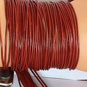 Leather ribbon goat 1 Meter 1,5mm red brown