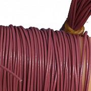 Lederband Rosa Ziege rund 1 Meter 1,5mm