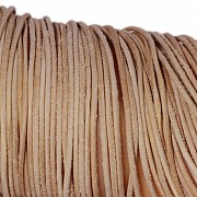Leather ribbon goat 1 Meter 1,5mm natural brown