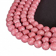 Thulite Gemstone Beads 10mm A