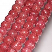 Thulite Gemstone Beads 10mm AAA