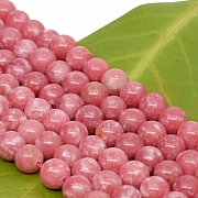 Thulite Gemstone Beads 6mm A