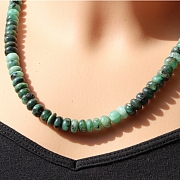Emerald Necklace Button Beads