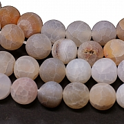 Ice Agate cracked Round Beads Matt 10mm/37-38cm