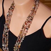 Rutilated Quartz Multicolor Necklace 85cm