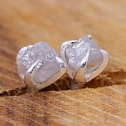 Diamond Earstuds small rough diamonds