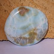 Hemimorphite flat semi-precious stone