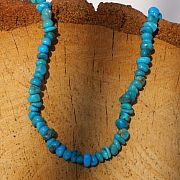 Turquoise beads A + natural rounded stones 6mm 40cm