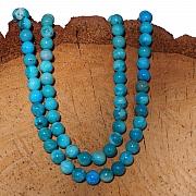Türkis Perlen Naturperlen 6mm Kugel  A Qualität Rund 40cm Perlenstrang