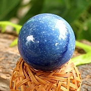 Blue quartz stone ball Sphere Natural Stone 30mm