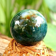 Agate Moos Natural Sphere Ball 30mm Ø