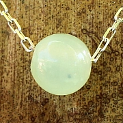 China Jade Ball Pendant 10mm