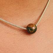 Rhyolite Ball Anhänger Steinkugel 10mm mit großem Loch