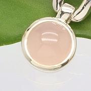 Rosa Opal Ohrringe Sterlingsilber 925 10mm