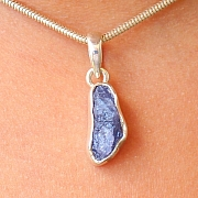Tanzanite Pendant Stone Sterling Silver 925 16X8mm